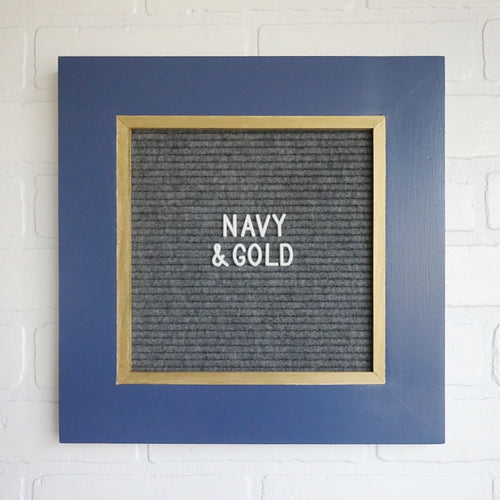 Navy & Gold - Classic Frame - Letter Board - Small