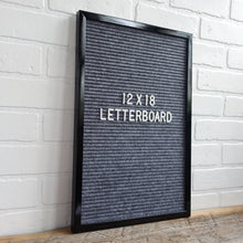 Black Frame 12x18 - Letter Board - Gray Felt - Mod Collection
