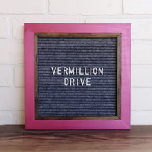 Metallic Fuchsia - Chic Frame - Letter Board - Small