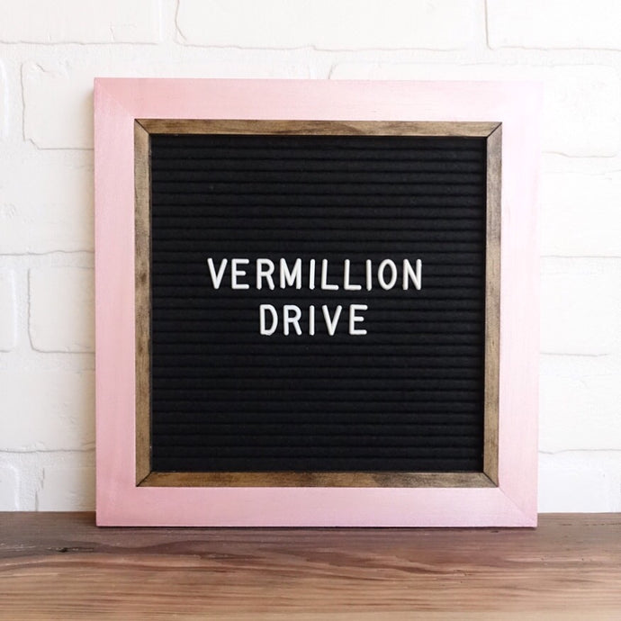 Metallic Blush - Chic Frame - Letter Board - Small