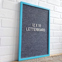 Teal Frame 12x18 - Letter Board - Gray Felt - Mod Collection