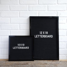 Teal Frame 12x18 - Letter Board - Black Felt - Mod Collection