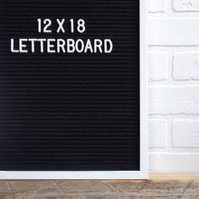 White Frame 12x18 - Letter Board - Black Felt - Mod Collection