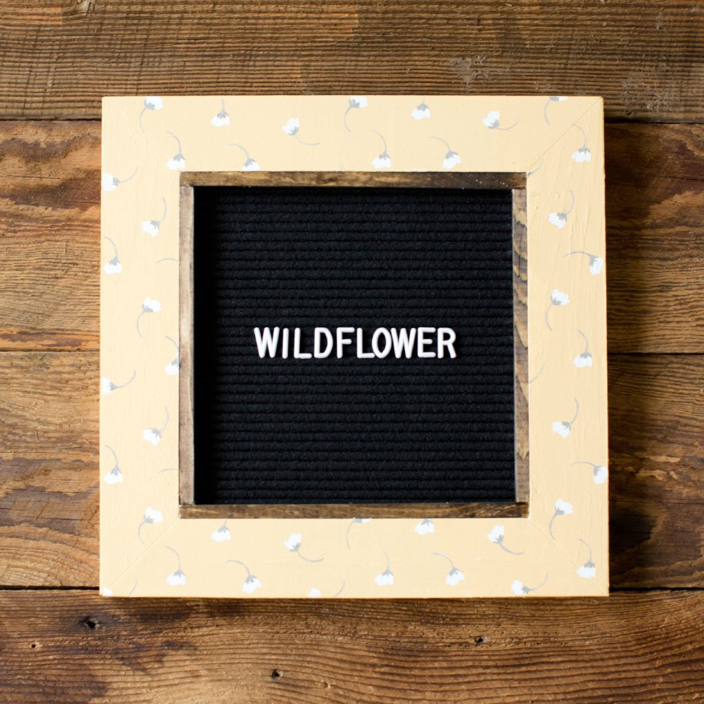 Wildflower - Classic Frame - Letter Board - Small