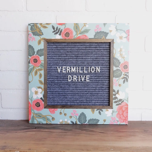 'Posy' - Floral Frame - Letter Board - Small
