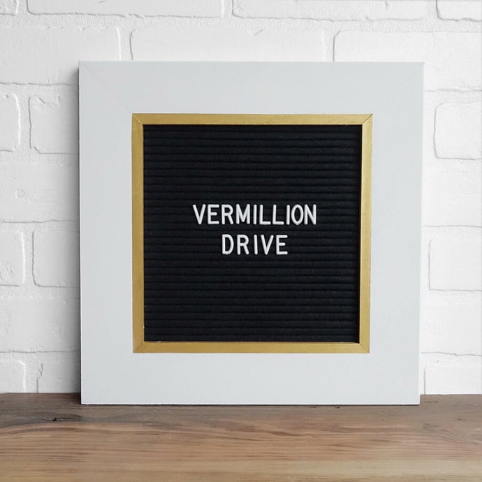 White & Gold - Classic Frame - Letter Board - Small