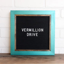 Metallic Teal - Chic Frame - Letter Board - Small