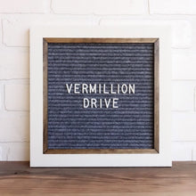 White - Chic Frame - Letter Board - Small