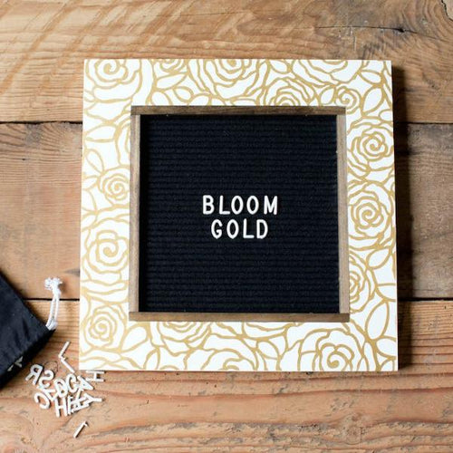 Bloom Gold - Classic Frame - Letter Board - Small