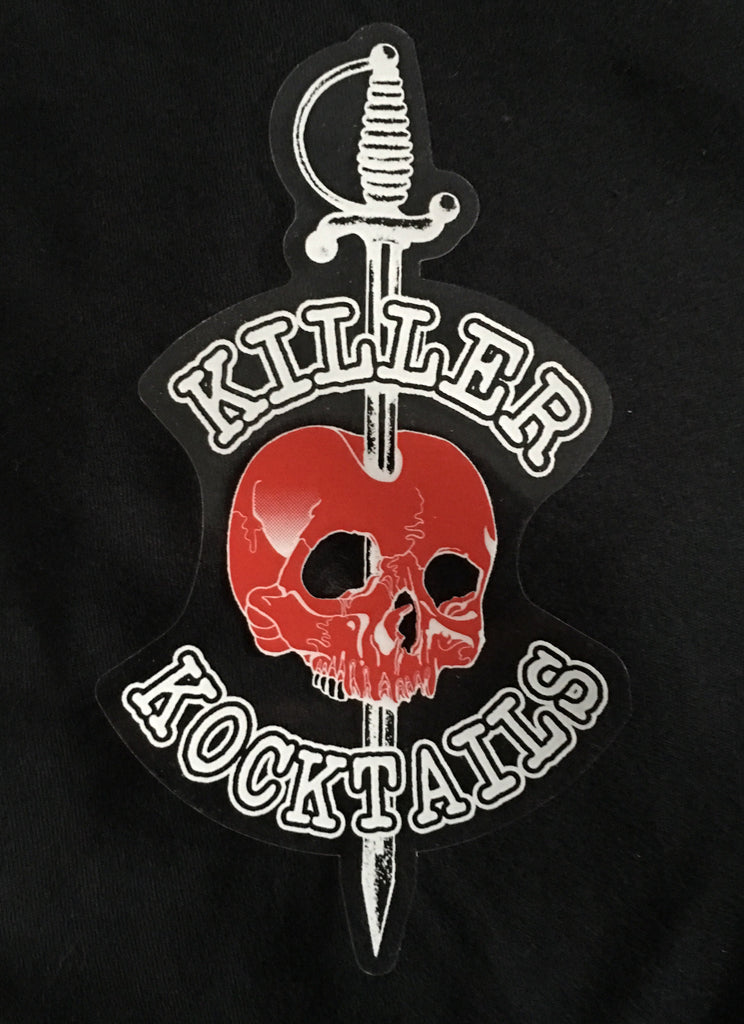 Killer Kocktails Static Window Cling (If ordered alone no S&H)