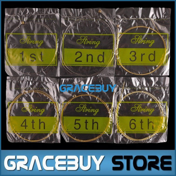 Acoustic Guitar Strings 6 pcs/ Set Silver