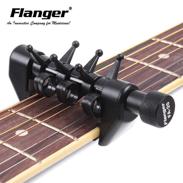 FA-20 Flanger Flexi Portable Alternative Tuning Guitar Capo Black Color