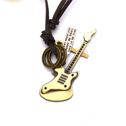 Guitar Pendant Necklace SteamPunk Rock Style