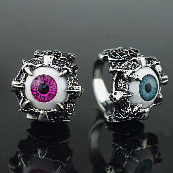 Unisex Eyes Claw Gothic Ring Size 8 9 10 11