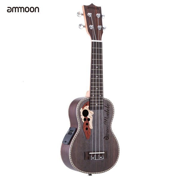 "High Quality 21"" Spruce Ukelele with Built-in EQ Pickup"