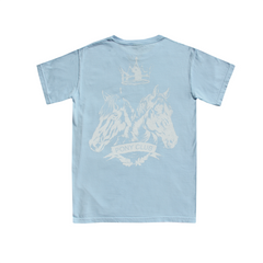 Lt. Blue Washed Short Sleeve Tee