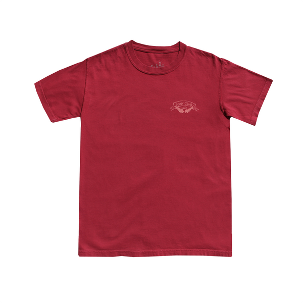 Crimson Washed Short Sleeve Tee