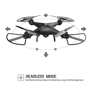 Amazon.com: Holy Stone HS110D FPV RC Drone with 720P HD Camera Live Video 120° Wide-Angle WiFi Quadcopter with Altitude Hold Headless Mode 3D Flips RTF with Modular Battery, Color Black: Video Games - Swix Electronics, LLC