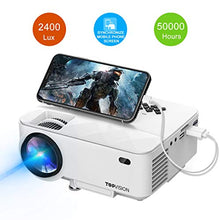 "Load image into Gallery viewer, Amazon.com : Mini Projector, TOPVISION 2400Lux Projector with Synchronize Smart Phone Screen, Supported 1080P, 176"" Display, 50, 000 Hours Led, Compatible with Fire TV Stick/HDMI/VGA/USB/TV/Box/Laptop/DVD : Gateway - Swix Electronics, LLC"