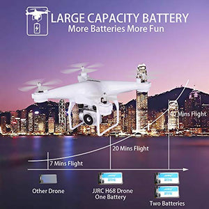 Amazon.com: 40MINS Flight Time Drone, JJRC H68 RC Drone with 720P HD Camera Live Video FPV Quadcopter with Headless Mode,Altitude Hold Helicopter with 2 Batteries(20mins + 20mins)-White: Gateway - Swix Electronics, LLC
