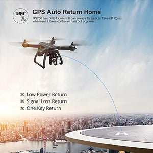Amazon.com: Holy Stone HS700 FPV Drone with 1080p HD Camera Live Video and GPS Return Home, RC Quadcopter for Adults Beginners with Brushless Motor, Follow Me, 5G WiFi Transmission, Fit with GoPro Camera: Gateway - Swix Electronics, LLC