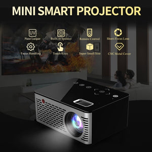 T200 Mini Micro LED Cinema Portable Video HD USB HDMI Projector for Home Theater Short Focus Design T200 Transmission Screen US - Swix Electronics, LLC