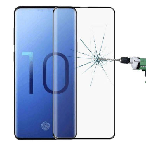 AMZER 9H Edge2Edge 3D Tempered Glass Screen Protector for Samsung Galaxy S10 - Black - Swix Electronics, LLC