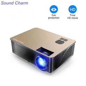 Sound Charm Full HD 5500 Lumens LED Video Home Projector With 2HDMI 2USB AV VGA Ports - Swix Electronics, LLC