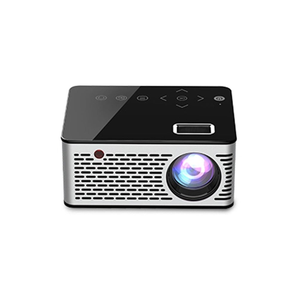 Mini Micro LED Cinema Portable Video HD USB HDMI Projector for Home Theater Short Focus Design T200 Transmission Screen - Swix Electronics, LLC