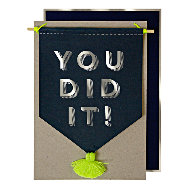 "Tarjeta de Graduación ""You Did It!"""