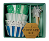 Cupcake Kit Blue & Star (72 Piezas)