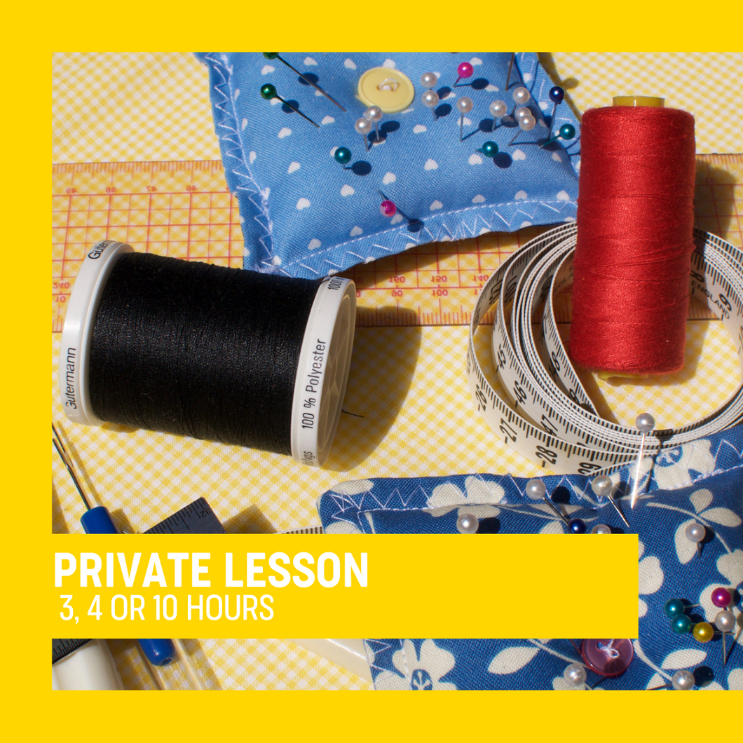 Private Lessons - Learn to sew at UsefulBox HQ