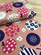 Apple flower print Duck Canvas Cotton