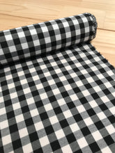 Black and White Gingham Cotton