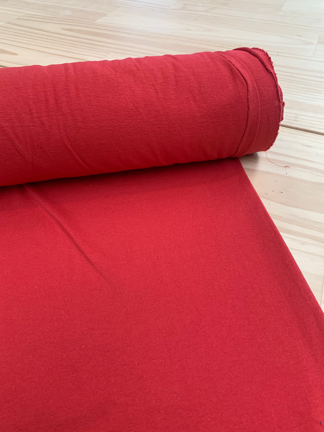 Cherry Red stretch fabric