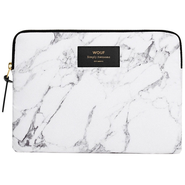 Wouf Ipad Sleeve - White Marble