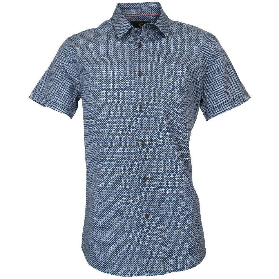 Brent Shirt - Navy Mens Clothing M,L,XL,2XL Cutler & Co