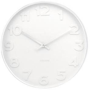 Karlsson Wall Clock 'Mr White' Numbers with White Rim