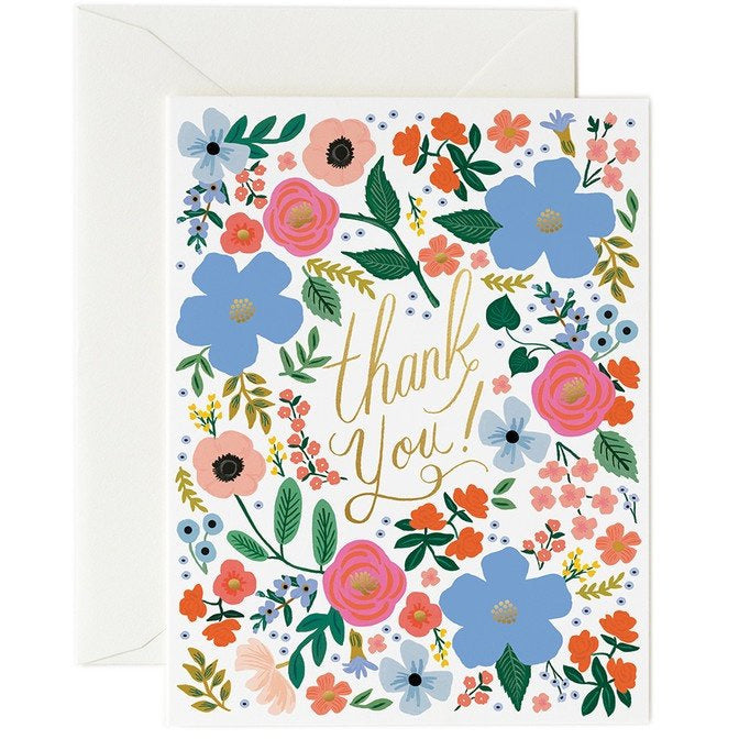 Rifle Paper Cards, Rifle Paper NZ Retailer, Reseller, Thank You Card