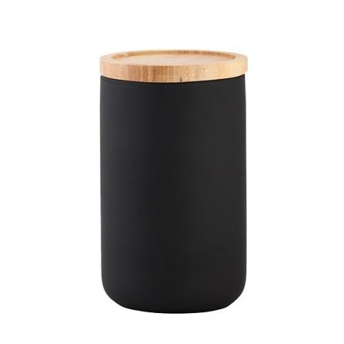 General Eclectic Matt Black Tall Canister