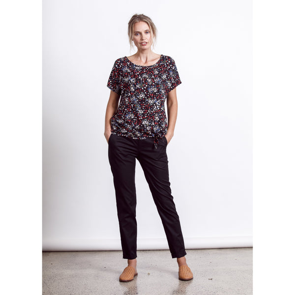 Tyler Top - Black Wild Womens Clothing 8,10,12,14 Dalston