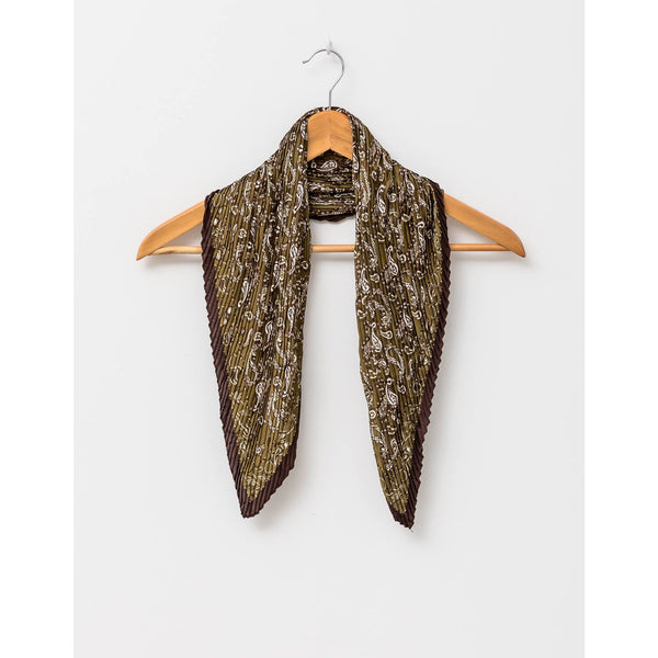 Square Scarf - Olive Paisley Womens Accessories Default Title Stella & Gemma