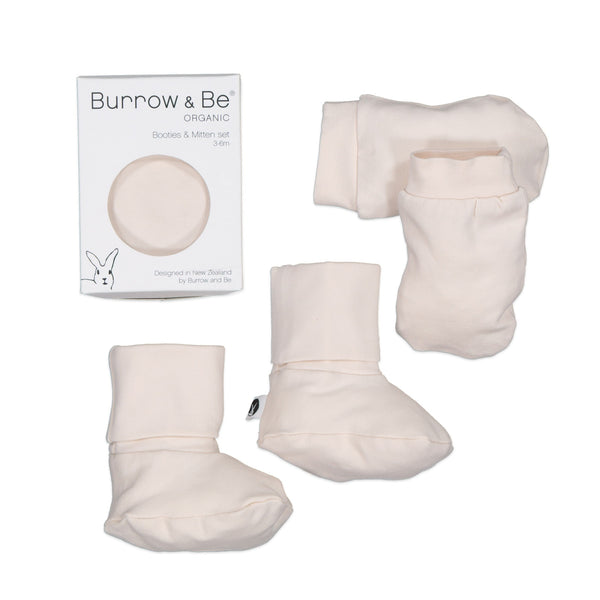 Essentials Booties & Mittens - 2 Colours Baby Almond Burrow & Be