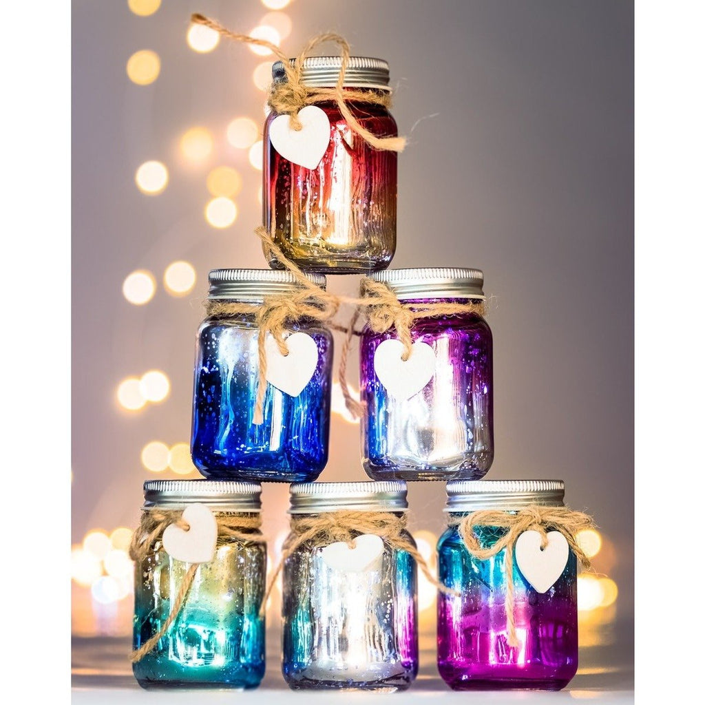 Mini Ombre Sparkle Jars