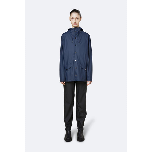 Rains Jacket - Blue Womens Clothing XXS/XS,XS/S,S/M,M/L,L/XL Rains