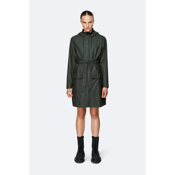 Rains Curve Jacket - Green Womens Clothing XXS/XS,XS/S,S/M,M/L,L/XL Rains