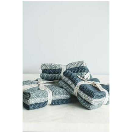 Bianca Lorenne Lavette Knitted Cotton Wash Cloths Teal