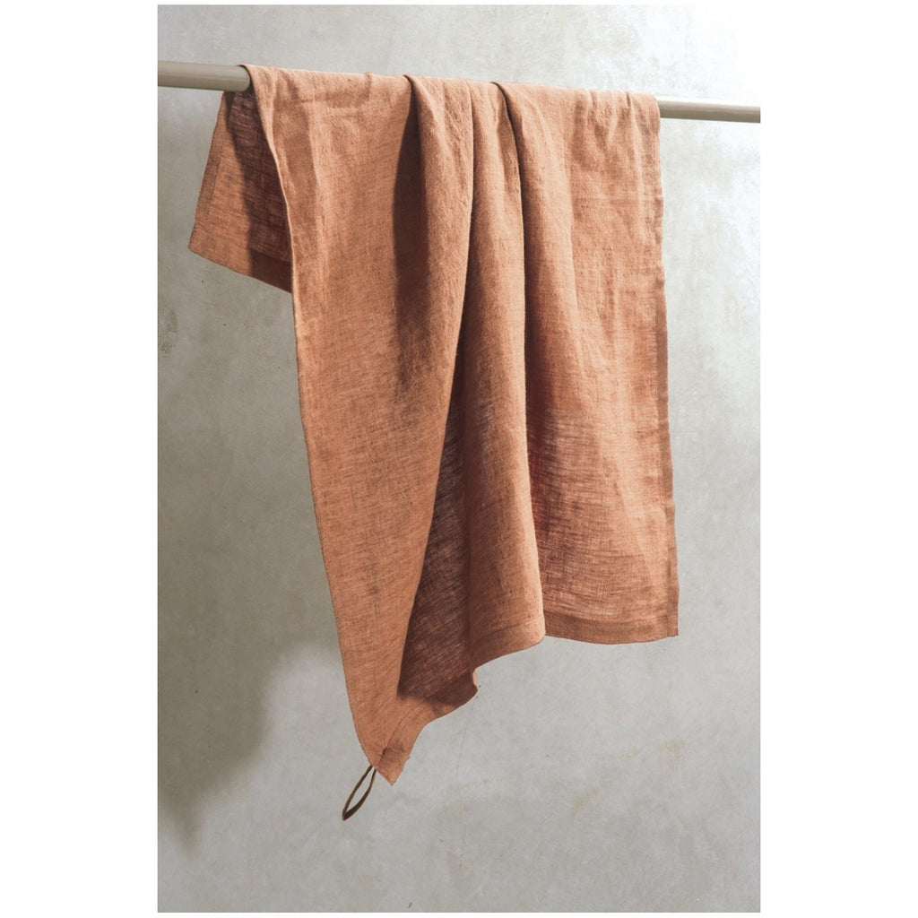 Chambray Linen Tea Towel Cinnamon Bianca Lorenne