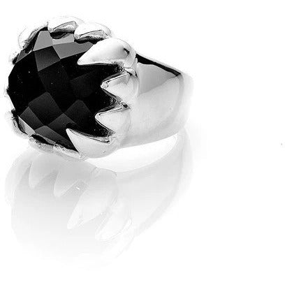 Claw Ring - Onyx + Silver Rings S,M,L Stolen Girlfriends Club