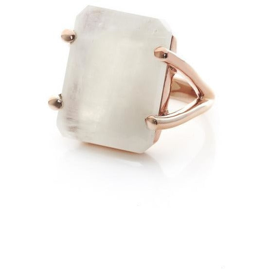 Silk & Steel Prima Donna Ring - Moonstone Rose Gold